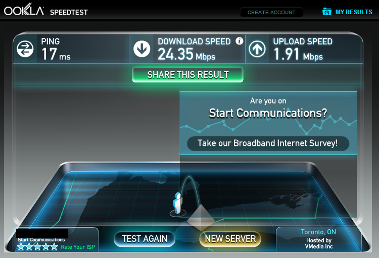 Start Standard - Speedtest